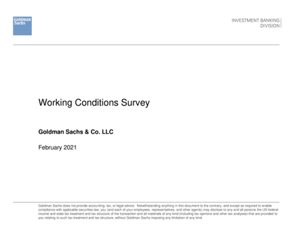 Goldman Sachs Junior Employee Abuse Deck