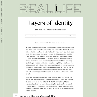 Layers of Identity — Real Life