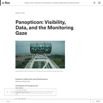 Panopticon: Visibility, Data, and the Monitoring Gaze