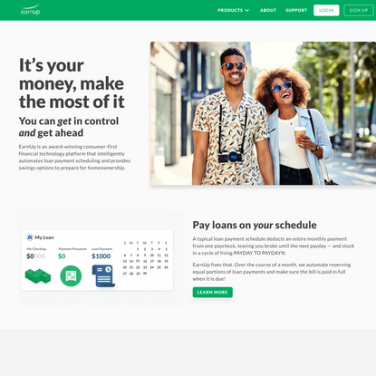 EarnUp | Improve your financial well-being