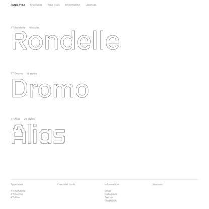 Razzia Type: Typefaces