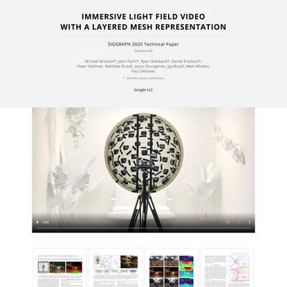 Immersive Light Field Video with a Layered Mesh Representation