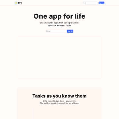 Life - One app for life