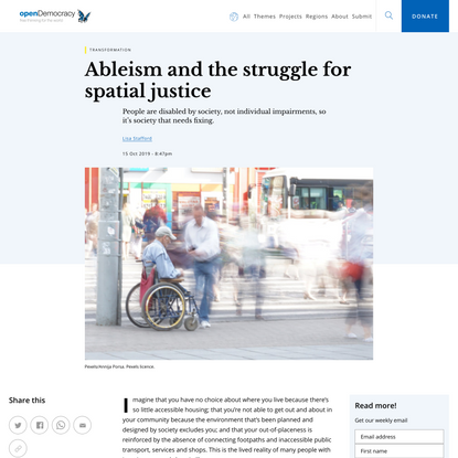 Ableism and the struggle for spatial justice | openDemocracy