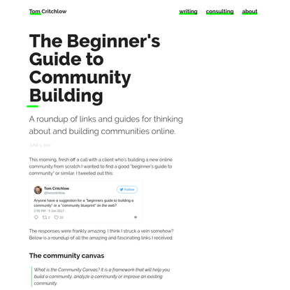 The Beginner's Guide to Community Building
