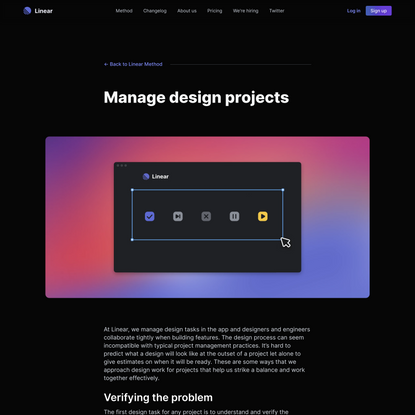 Manage design projects