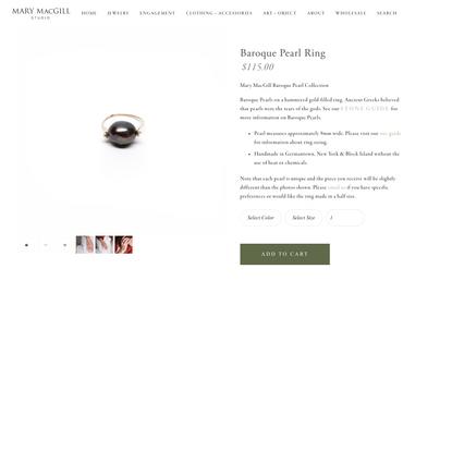 Baroque Pearl Ring — Mary MacGill