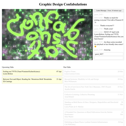 Graphic Design Confabulations – EKA GD MA