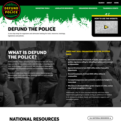 DEFUND THE POLICE - Defund the Police