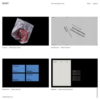 ® Studio Goat - Komunikačný dizajn v praxi