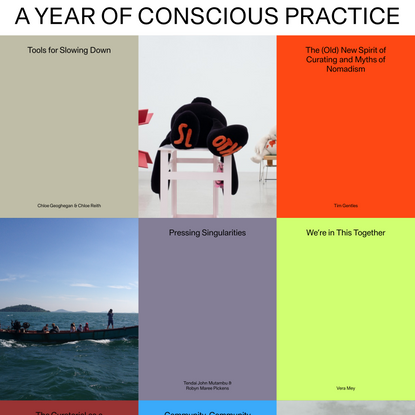 A Year of Conscious Practice