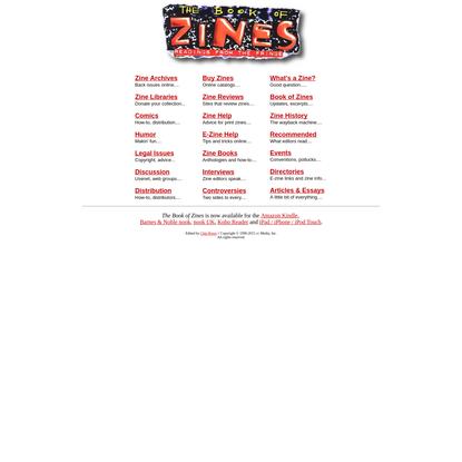 Zines, E-Zines, Fanzines : The Book of Zines : Directory