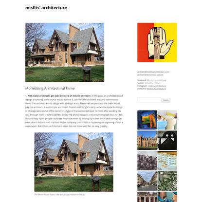 Monetising Architectural Fame