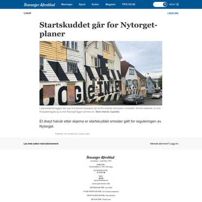 Startskuddet går for Nytorget-planer