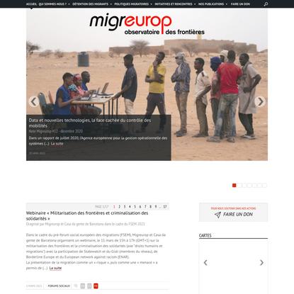 MIGREUROP - Observatoire des frontières