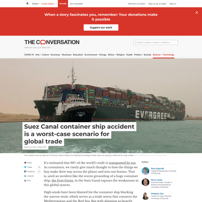 Suez Canal container ship accident is a worst-case scenario for global trade