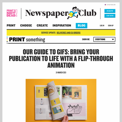 Our guide to GIFs: Bring your publication to life with a flip-through animation - Newspaper Club