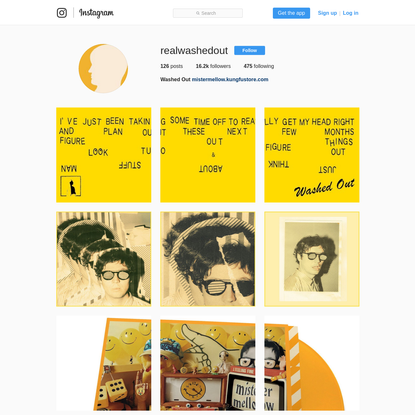 Washed Out (@realwashedout) * Instagram photos and videos