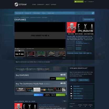 EXAPUNKS on Steam