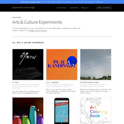 Arts & Culture Experiments | Experiments with Google