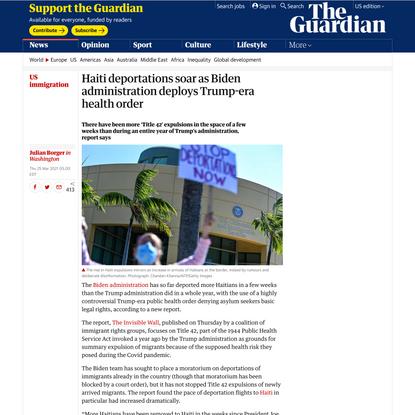 Haiti deportations soar as Biden administration deploys Trump-era health order