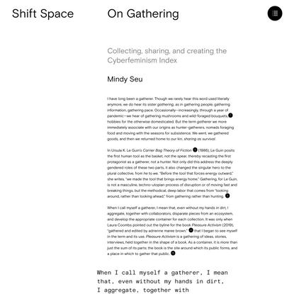 On Gathering - Mindy Seu
