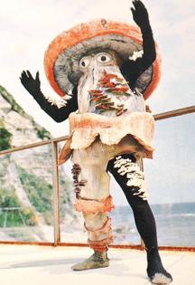 Mr. Mushroom Man, at the EXPO 1970 in Osaka, Japan