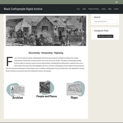 Black Craftspeople Digital Archive