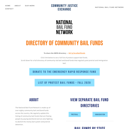 National Bail Fund Network — Community Justice Exchange
