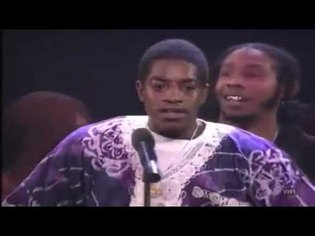 Outkast winning Best New Rap Group at the Source Awards 1995 03