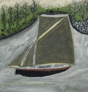 Sailing Ship and Orchard 1937, Alfred Wallis
