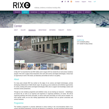 RIXC, The Center for New Media Culture