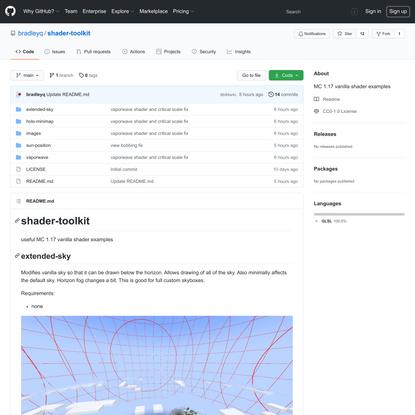 GitHub - bradleyq/shader-toolkit: MC 1.17 vanilla shader examples