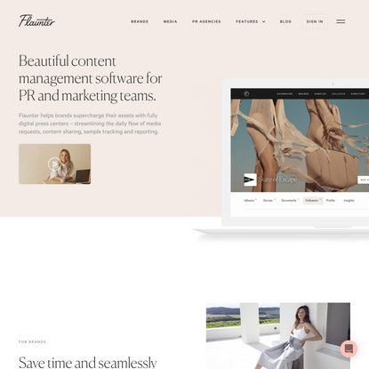 Flaunter: content management tools for PR and marketing teams