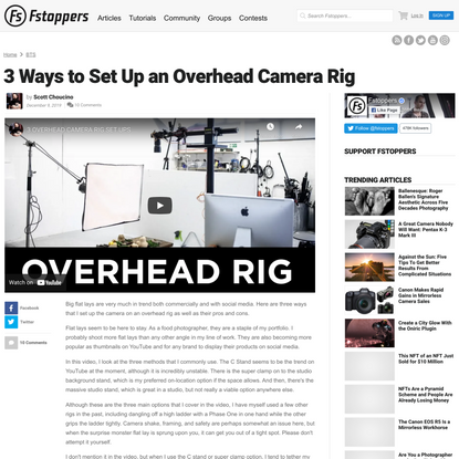 3 Ways to Set Up an Overhead Camera Rig