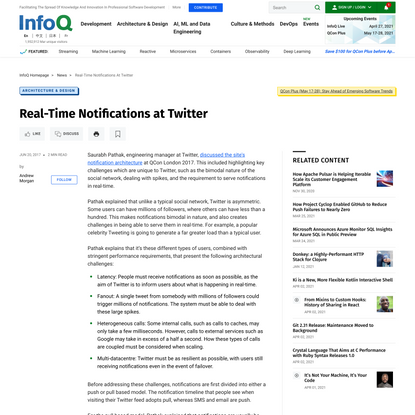Real-Time Notifications at Twitter