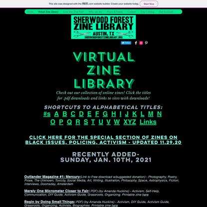 Virtual Zine Library   sherwoodforest