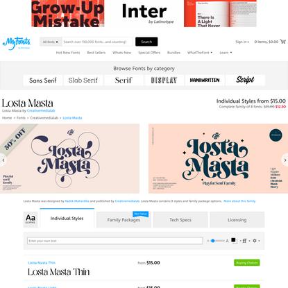 Losta Masta Font | Webfont & Desktop | MyFonts