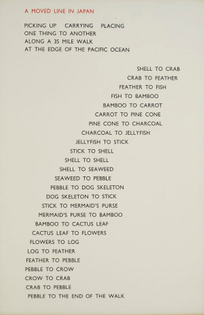 Richard Long, A Moved Line in Japan (1983)