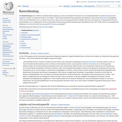Rasterfahndung – Wikipedia