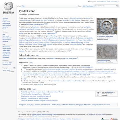 Tyndall stone - Wikipedia