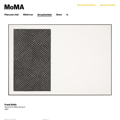 Frank Stella. Gezira from Black Series II. 1967 | MoMA