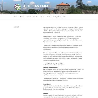 About - Alto Das Fadas