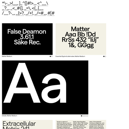 Matter - Displaay Type Foundry