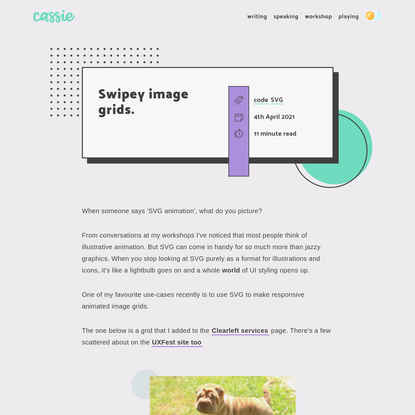 Swipey image grids.