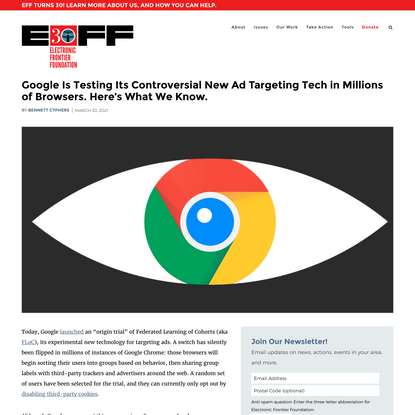 Google Is Testing Its Controversial New Ad Targeting Tech in Millions of Browsers. Here's What We Know.