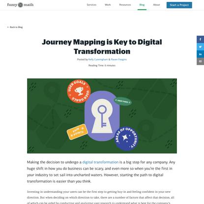 Journey Mapping is Key toDigital Transformation | Fuzzy Math