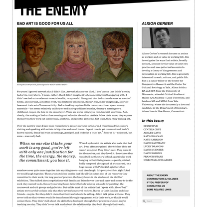 Bad Art is Good For Us All - The Enemy