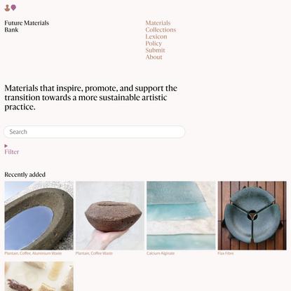 Materials — Future Materials Bank