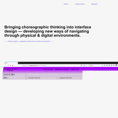 phic Design — Choreo - Graphic Design